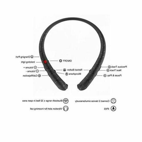 Wireless Headphone Earbuds Sport Neckband HD Stereo Sweatproof