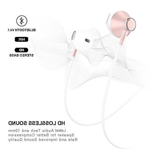 Wireless Headphones, Sport Earphone, HiFi Earbuds Bluetooth Headphones, Free, HD Buit-in Support for Running,