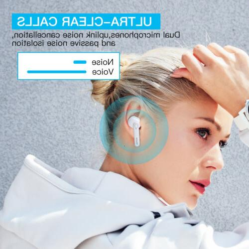 Wireless Headphones Bluetooth 5.0 Auto-Pair Earbuds Control In-Ear Headset