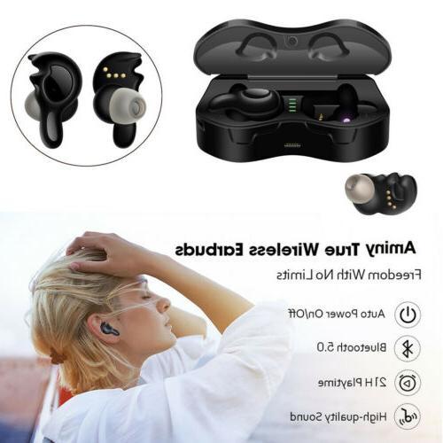 wireless headphones tws bluetooth stereo earphones earbuds