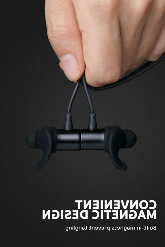 Wireless Headphones With Microphone Bluetooth Headset Sweatproof Ear Earbuds
