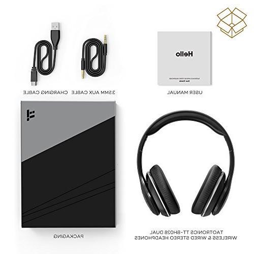 Bluetooth Headphones, TaoTronics Headset with Memory Ear Pads & 40mm Drivers
