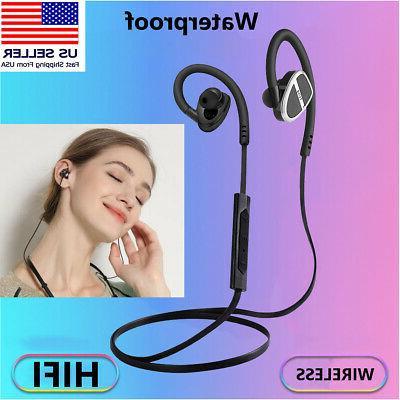Wireless Headset Sport Headphones Neckband Bluetooth Earbuds