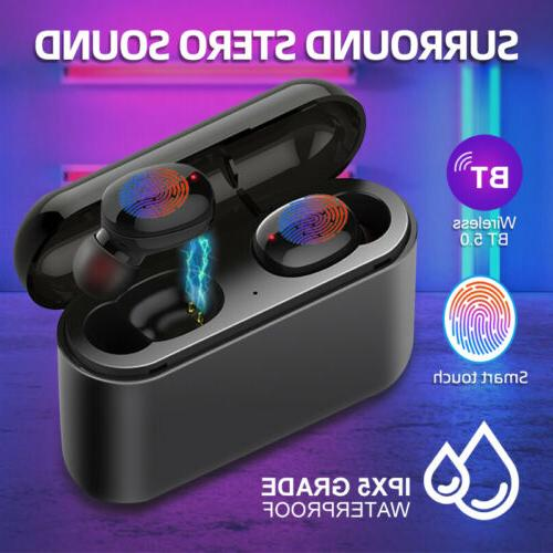 wireless headsets bluetooth headphone earbuds w mic