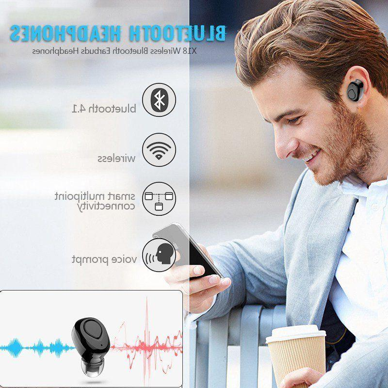 Wireless Headsets Bluetooth Earbuds w/Mic Noise Cancelling