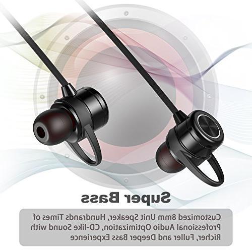 Wireless Bluetooth Earbuds Headphones   Sport Mic   Bluetooth aptx, 8 Time,
