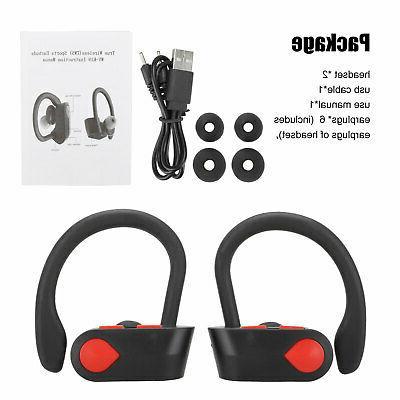 Wireless Bluetooth 5.0 Headset Stereo Headphone Earphone Sports Earbuds