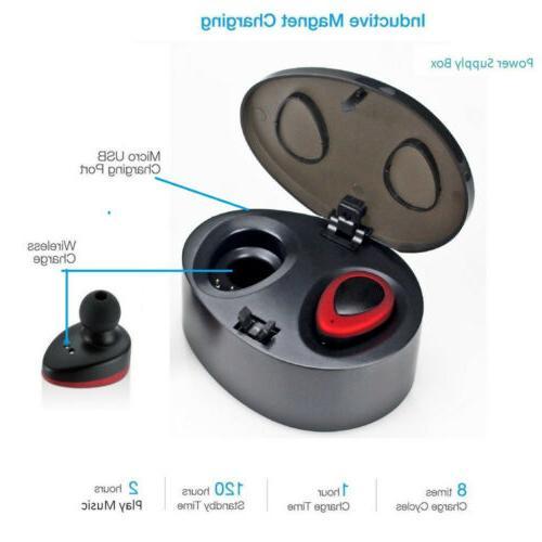 Wireless Bluetooth Twins Earphone Headset Earbuds US