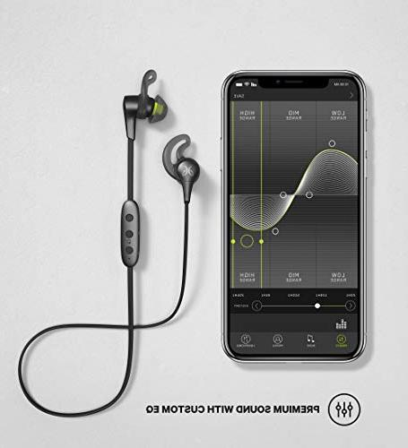 Jaybird Headphones and Running, Compatible iOS Android Sweatproof and Black Metallic/Flash