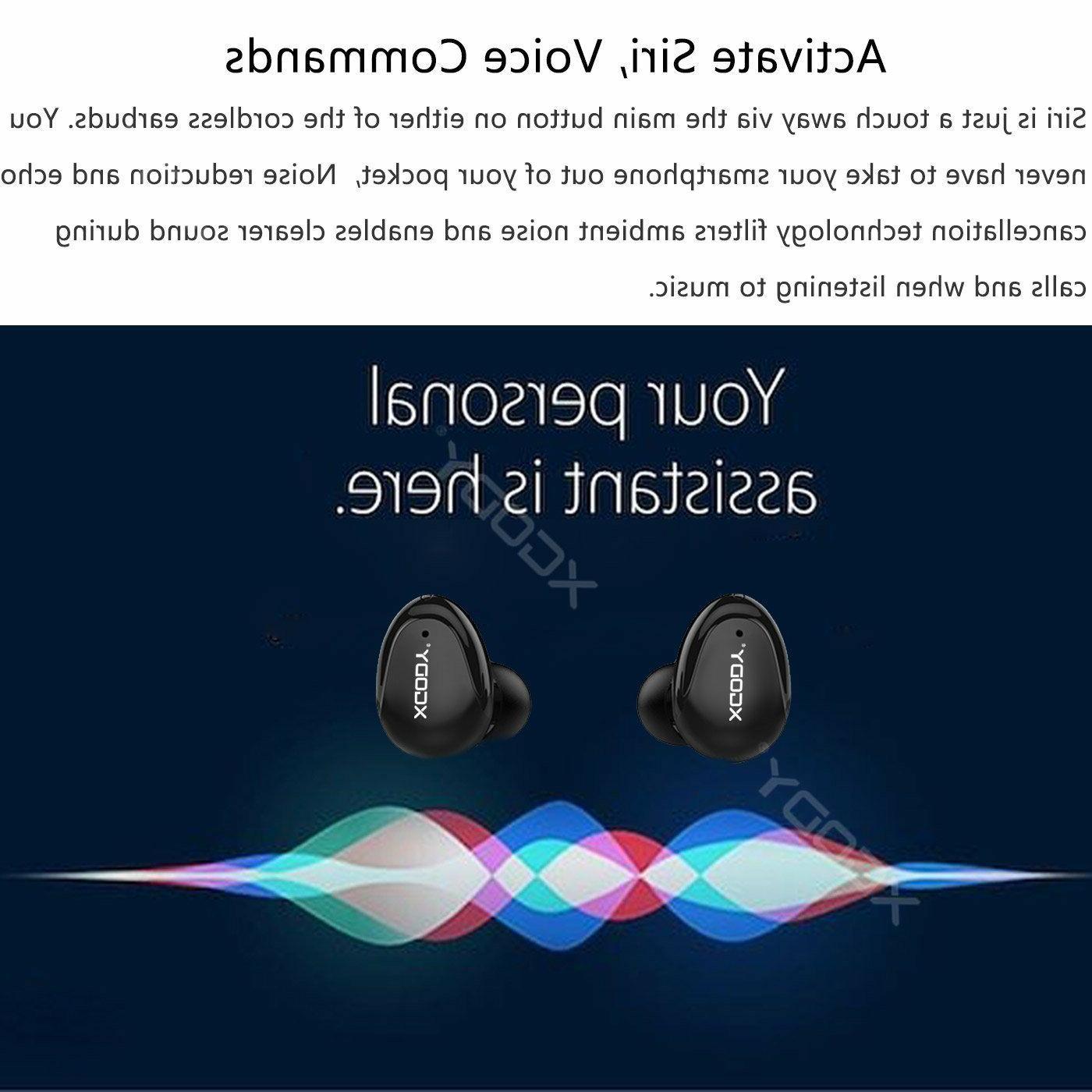 XGODY Mini Wireless Earbuds Stereo Cancelling Headphone