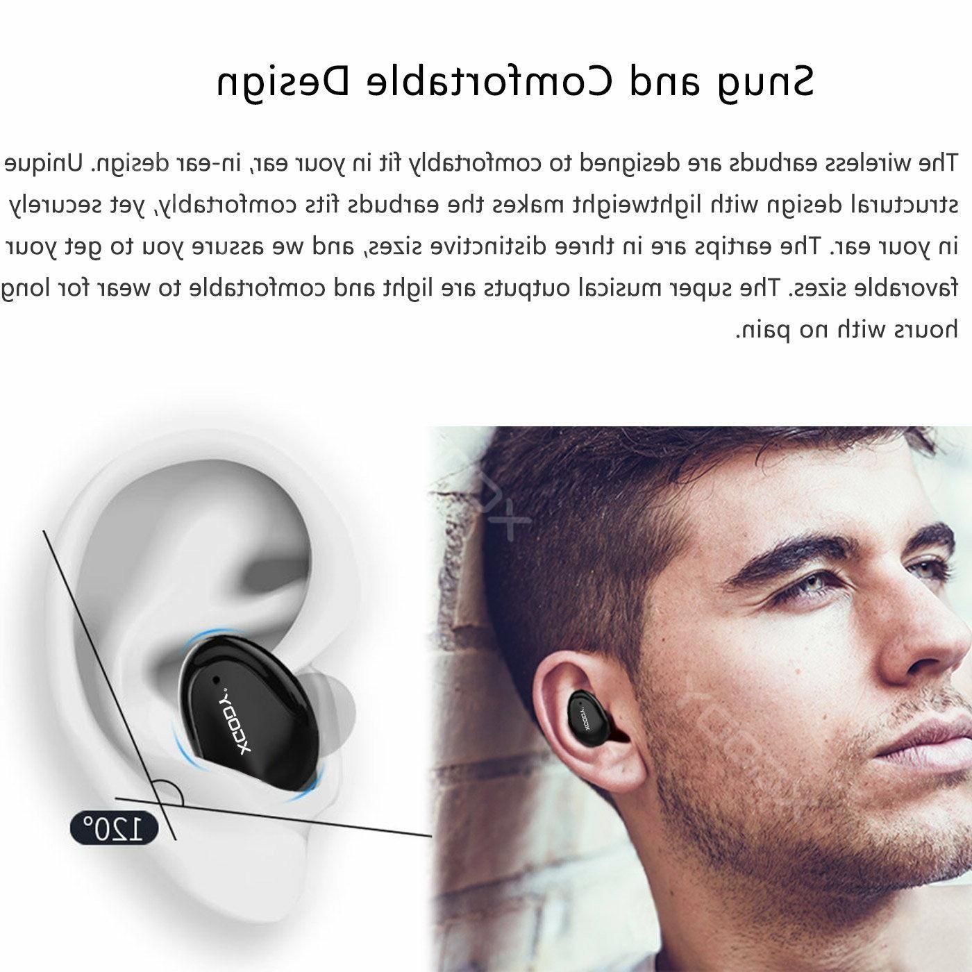 XGODY Mini Wireless Earbuds Stereo Headset Cancelling