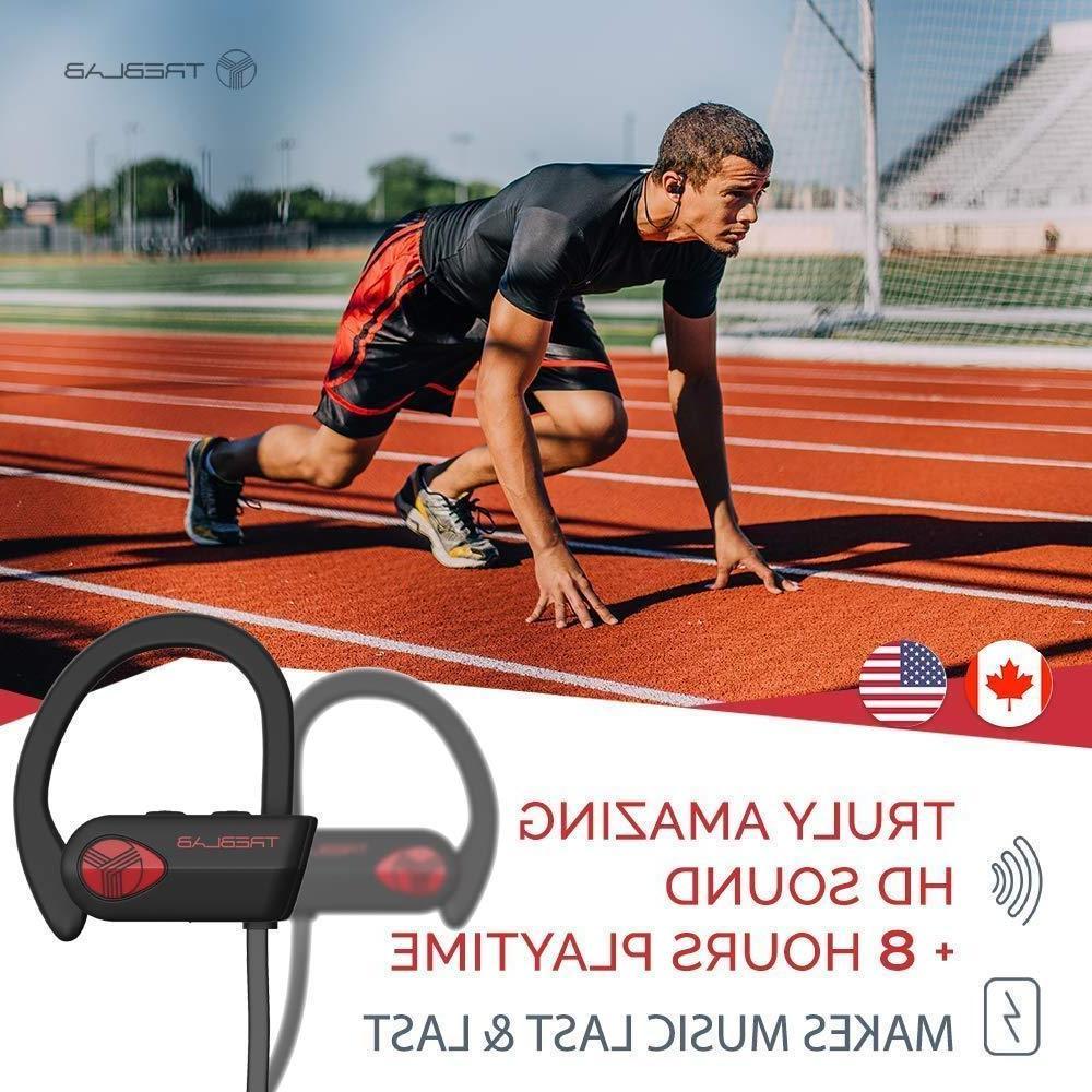 TREBLAB XR500 Headphones Best Sports IPX7 Waterproof
