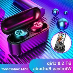 LED Light Bluetooth 5.0 Headset TWS Wireless Earphones Earbu