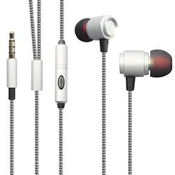 Hi-Fi Sound Earbuds Hands-free Earphones w Mic Dual Metal He