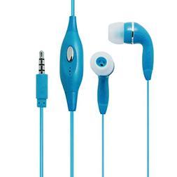 Light Blue Color 3.5mm Audio Earphone Headphones Headset Ear