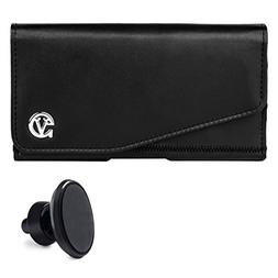 Lightweight Leather Noble Pouch Case Belt Clip Fits Apple iP