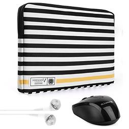 Vangoddy Luxe G Series Black White Stripe 15.6 Inch Lightwei