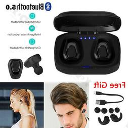 Mini Bluetooth 5.0 Headphones Wireless Earbuds Bass For iPho
