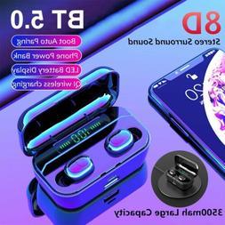 Mini Bluetooth 5.0 Headset TWS Earphones Wireless Earbuds No