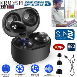 TWS Earphones Wireless4.2 Earbuds LED Stereo CVC6.0 Noise Ca