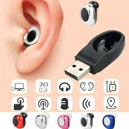 Mini Wireless Bluetooth Earbuds Headset Stereo In-Ear Earpho
