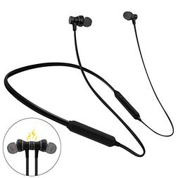 Neckband Bluetooth Headphones Waterproof IPX5,voice dial ,
