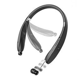 Neckband Wireless HiFi Sound Headset w Retractable Earbuds P