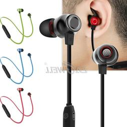 Phone Wireless Bluetooth Earbuds Stereo Headset Sports In-Ea