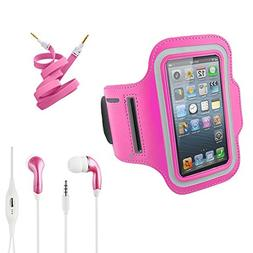 Hot Pink Armband Exercise Workout Case with Keyholder for Jo