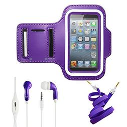 Purple Armband Exercise Workout Case with Keyholder for Jogg