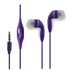 Purple Color 3.5mm Audio Earphone Headphones Headset Earbuds