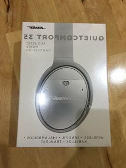 BOSE QC 35 QuietComfort Silver Noise Cancelling Wireless Hea