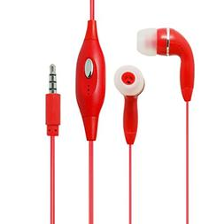 Red Color 3.5mm Audio Earphone Headphones Headset Earbuds wi