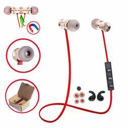 Red MD53 In-Ear Wireless Sports Bluetooth Headphone Earbuds