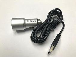 OMNIHIL Replacement 2-Port USB Car Charger w/  USB CABLE for