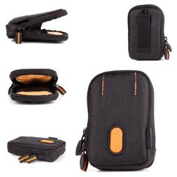 DURAGADGET Rugged Protective Earphone Case in Black and Oran