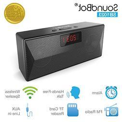 SoundBot SB1023 FM Radio Bluetooth 4.2 Wireless Portable Spe
