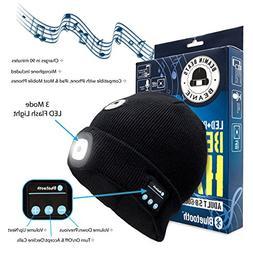 Beamin Beats Smart Bluetooth Beanie Hat for Men, Women & Tee