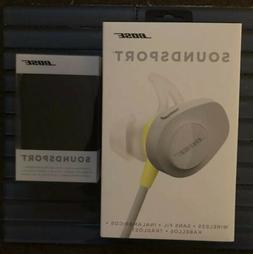 Bose Soundsport Wireless Earphones Citron SSport And Chargin