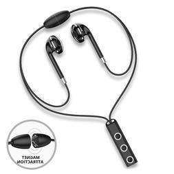 Magnetic Bluetooth Headphone Wireless Sport Headset Bass Ear