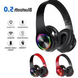 Super Bass Wireless Bluetooth Headphones Foldable Stereo Ear
