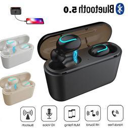 True Wireless Bluetooth 5.0 Earbuds TWS Headset Stereo Headp