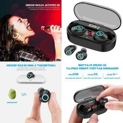 True Wireless Earbuds, 20H Playtime, Volume Control, Bluetoo