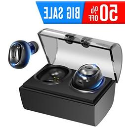 IOUIOU Truly Wireless Earbuds with Charging Case Microphone