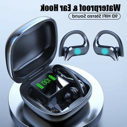 TWS Bluetooth 5.0 Wireless Earhook HiFi Earbuds Sports Earph