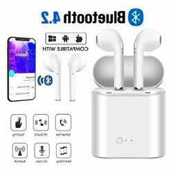 i7S TWS Wireless Bluetooth Earbuds Earphone W/Charger Box NE