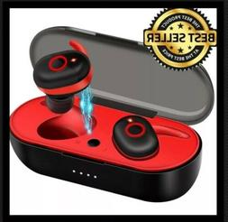 TWS Wireless Earbuds - Bluetooth IPX5 5.0 Headphones W/ Mic