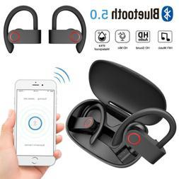 TWS Wireless Stereo Bluetooth 5.0 Earbuds Earphone Ear Hook