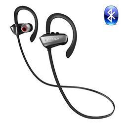 MiZiTON U7P Bluetooth Headphones Real IPX7 Waterproof and Sw