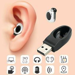 USB Mini Wireless Bluetooth Earbuds In-Ear Stereo Earphones
